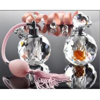 Hot Stamping 10ml Mini Crystal Perfume Bottles With Bulb Sprayer Pump