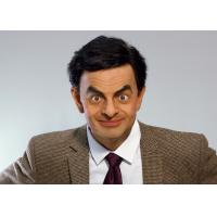 China  Silicone And Resin Film Star Mr. Bean Celebrity Wax Figures / Celebrity Wax Sculpture  for sale