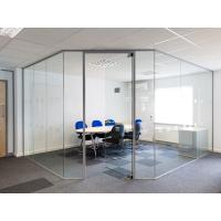 Buy cheap Clear Tempered Modern Office Glass Partition System Easy For Cleaning product
