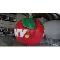 B1 Fireproof PVC Apple Fruit Shaped Balloons With Full Digital Printing 3m Height