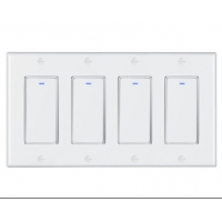 Buy cheap ODM Smart Key Switch Tuya Smart Life Wifi Curtain Switch With Cover from wholesalers