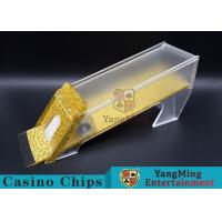 Buy cheap Anti - Cheating Casino Card Shoe / 8 Deck Shoe With Customized Logo Print product
