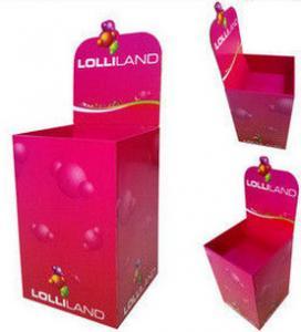 Buy cheap Ящики сброса картона розовой выставки рифленые, ящики продвижения product