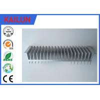 Quality Industrial Al 6063 T5 Aluminum Extruded Heat Sink With Silver Anodized Surface Treatment for sale
