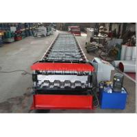 Buy cheap Galvanized Profile Floor Deck Roll Forming Machine 1200mm Raw Material Width product