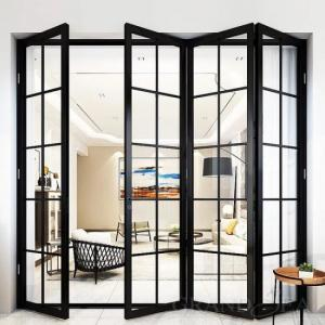 Buy cheap Ornamental Aluminum Folding Doors Glass 5mm-12mm Thickness For Balcony product