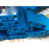 Blue Anodized CNC Precision Components 6082T5 Aluminum T Slot Framewith M6 Holes for sale