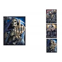 Buy cheap 3 Images Scary Skull Heads 3D Lenticular Flip 30x40cm For Home Decoration product