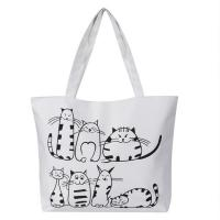Buy cheap Printed Cartoon Custom Shoulder Bags for women , Zippered Tote Bag product
