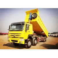 Buy cheap 8×4 371HP Heavy Duty Dump Truck 32 Tons Load 30CBM Dump Box White Red Yellow Color product