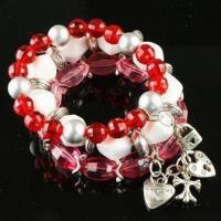 Buy cheap Handwork Bracelets, OEM Orders are Welcome, Made of Metal and Plastic, Graceful Design product