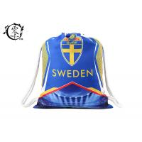 Buy cheap Sweden Team Sublimation Printed String Sports Bag , Custom Promotional Beach Pull String Bag product
