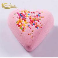 China Epsom Salt Heart Shaped Bath Bombs , Natural Ingredients SLS Free Bath Bombs on sale
