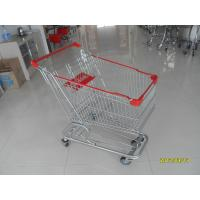 China German style 100L European shopping trolley With Handle , Logo Printed on sale