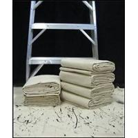 Buy cheap Dust - Proof Gray Painters Canvas Drop Cloth 9Ft * 12Ft For Interior Finish product