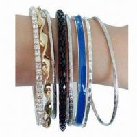 Buy cheap Fashionable Bangles, Made of Alloy, Available in Various of Designs product
