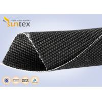 China Heavy Duty Welding Protection Blanket Fiberglass High Temperature Fabric Cloth 2.6mm Graphite Coated on sale