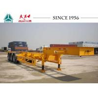 Gooseneck 40 FT 3 Axle Skeletal Container Trailer For Container Terminal