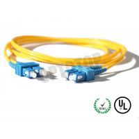 Buy cheap 2.5m Single Mode Fiber Optic Patch Cord 2mm For LANs / Telecom , REACH Listed SC product