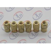 Buy cheap Small Machine Parts Plastic Insert Parts Brass Nuts With Blind Via Hole product