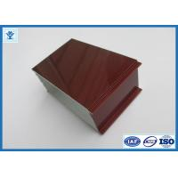 China Top Quality Wood Grain Transfer Printing Aluminum Profile for Door Frame on sale