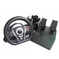 Fashion PS2 / PS3 Vibration Large Video Game Steering Wheel With Foot Pedal