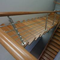 Buy cheap Wood Handrail Stainless Steel Rod Railing for Staircase Design product