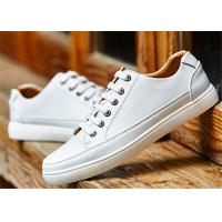 Buy cheap Customized Leisure Comfortable Trendy Shoes Popular White Leather School Shoes product