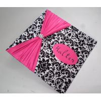 China 2015 Customized fabric cover gifts photo/card album on sale