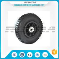 Buy cheap Plastic Rim Pneumatic Rubber Wheels SGS , 8 Inch Pneumatic Wheels For Trolleys product