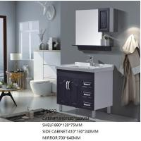 Buy cheap Modern Design PVC Floor Standing Vanity Units With Side Cabinet And Mirror product