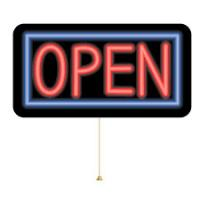 Buy cheap Business Display LED Open Sign Horizontal Black Frames Red White Lights Indoor product