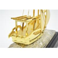China Business gift pure Golden Ship Model on sale