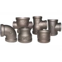 Buy cheap Durable Black Metal Pipe Fittings , Socket Weld Pipe Fittings ISO7/1 Thread product