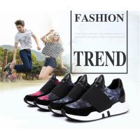 Buy cheap Slip-on Sneakers Taller 2.36 inches Women Shoes Elevator Sports Running Shoes Grey and Rose Color product
