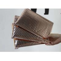 China 6 * 10 Metallic Bubble Envelopes Shiny / Matt Surface With Rose Gold Color on sale
