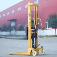 Buy cheap Portable hand forklift 2000kg hydraulic manual pallet stacker for sale product
