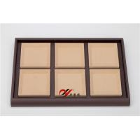 Buy cheap Eco-friendly Jewellery Display Trays 6 Grid Removable Microfiber Pad Pu Leather Coverd from wholesalers