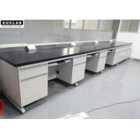 China Steel And Wood School Science Laboratory Furniture Black Marble Countertop Type on sale