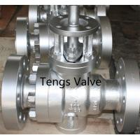 Buy cheap Cast steel industrial trunnion mounted full bore manual ball valve product