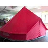 Buy cheap Red Color 5m Canvas Bell Tent With 4 Windows / Air Vents Fire Resistant product