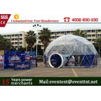 Luxury Wedding Geodesic Dome Tent UV Resistant Outside With Clear Roof