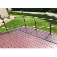 Customized 316 Stainless Steel Glass Railing Strong Rust Resistance For Pool Fence