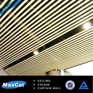 Quality Tube Aluminum False Baffle Ceiling/ Office Screen Ceiling for sale