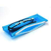 Buy cheap Designed PVC Zipper Small Plastic Bags with Zipper.Size :Length 21cm. Height12cm. 0.13MM Blue PVC material . product