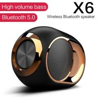 Buy cheap X6 Bluetooth 5.0 Speaker Wireless TWS Dual Sound Loudspeaker Subwoofer Support FM Radio For Handsfree Calling product