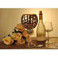 Buy cheap Antique Mosaic Glass Candle Holder Electroplating Christmas Decoration product