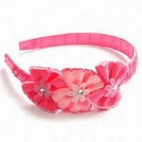 Buy cheap Headband with Resin, Simple and Graceful, Made of Plastic and Ribbon product
