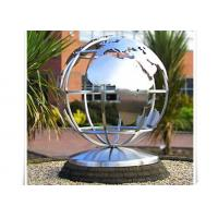 Buy cheap Metal World Globe Map Stainless Steel Sculpture For Public Decoration product