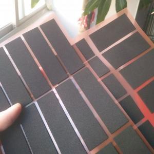 Buy cheap Professional die-cutting black glossy pe foam gum high quality 0.3 thick PE foam product